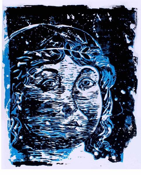 "Image of ""Cupido Blu"", serigrafia, T 1/20"