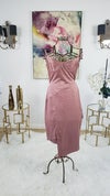 Pink Suede Body Conscious Dress