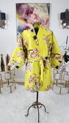 Chartreuse Cherry Blossom Kimono Wrap