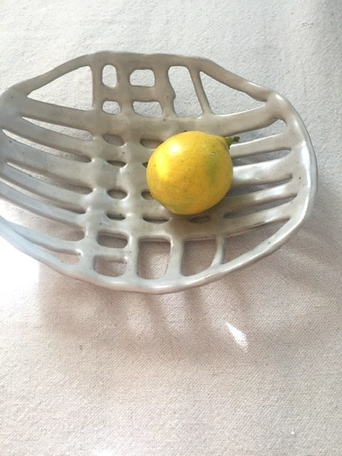 Image of interrelated woven bowl