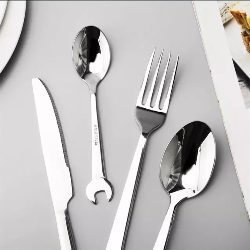 Image of Wrench Utensil Cutlery 🍴 Set