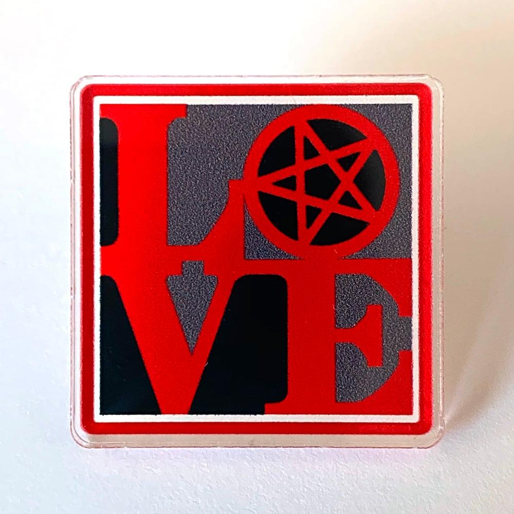 AshemaDeva LOVE Pentagram Pin