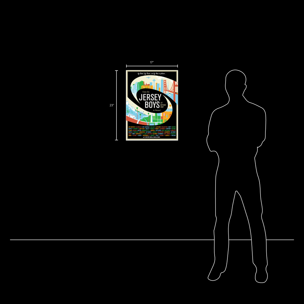 2012 Jersey Boys US Tour Commemorative Poster
