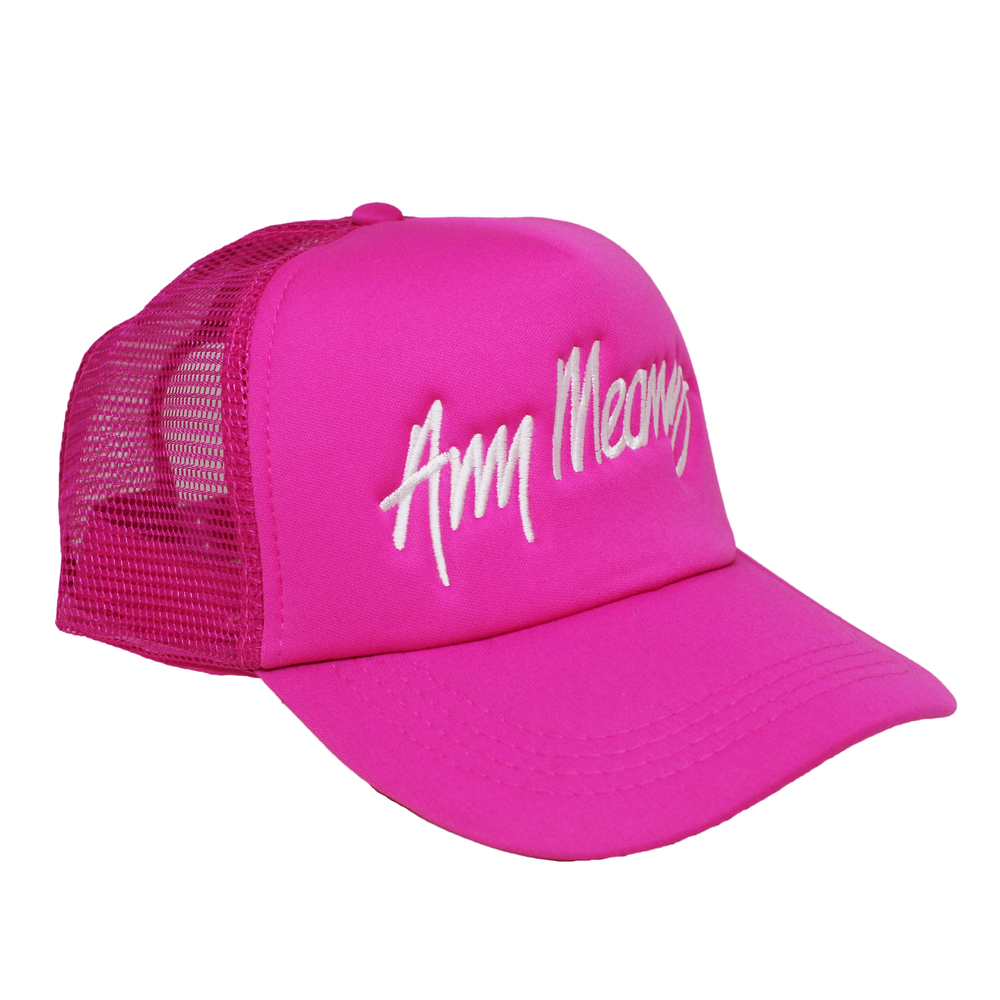 Image of Signature Trucker Hat in Pink