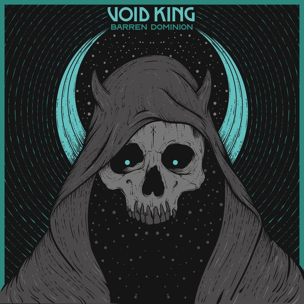 Image of VOID KING - Barren Dominion. Limited Edition Clear/Blue/Black Vinyl.