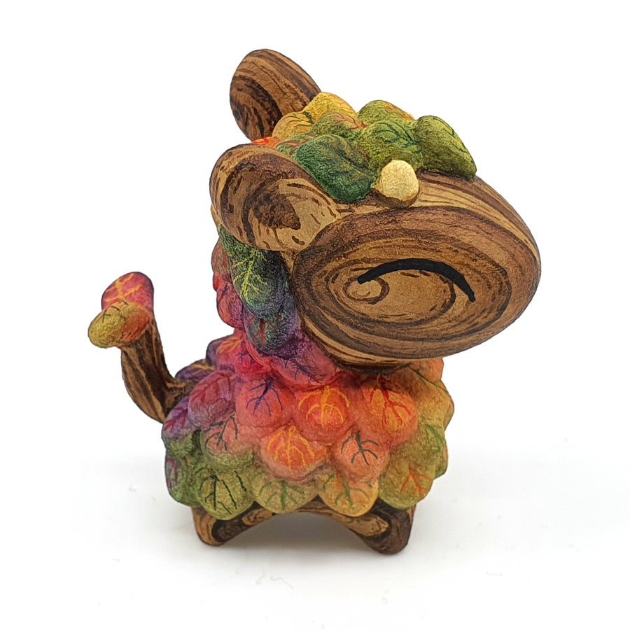 "Image of 2 1/16"" Autumn Mixed Media Lil Lleafi - designer toy"