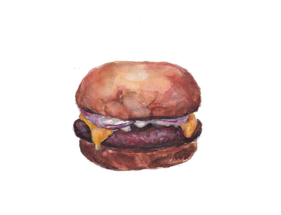 Image of Drawing 'Burger the savior' (2020)