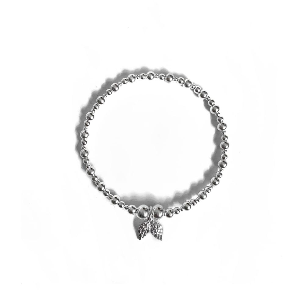 Image of Sterling Silver Angel Wings Charm Bracelet