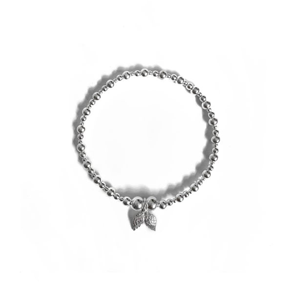 Image of Sterling Silver Angel Wings Charm Bracelet