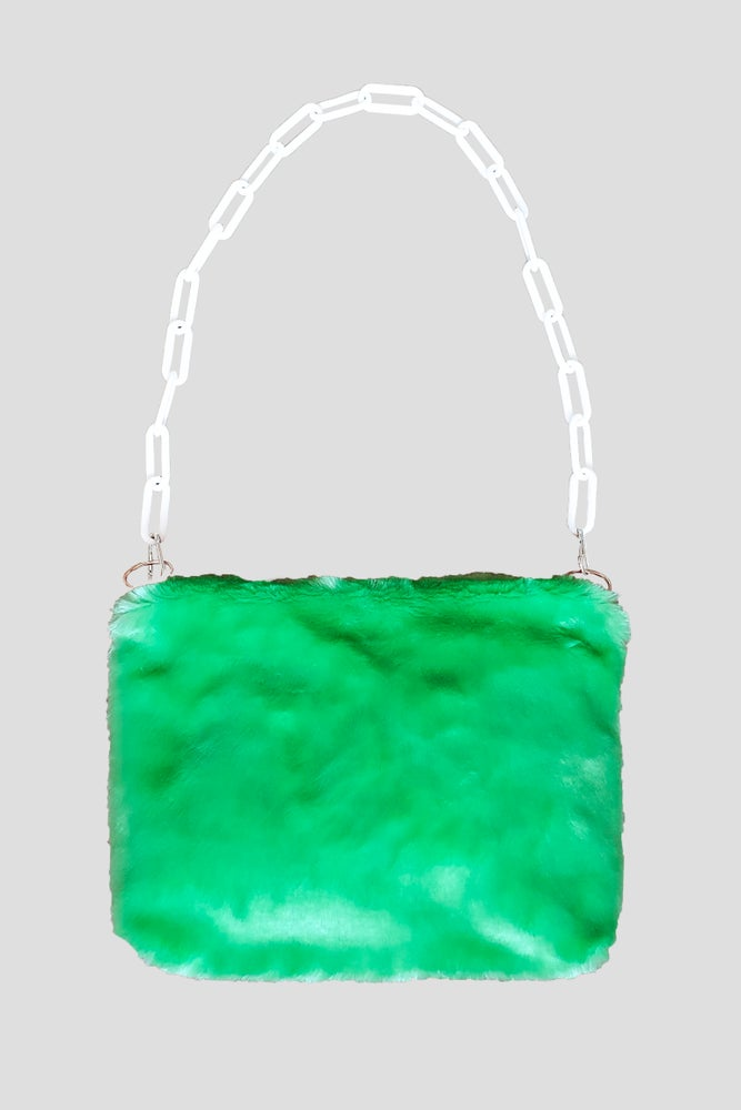 Image of Green Fluffy Purse