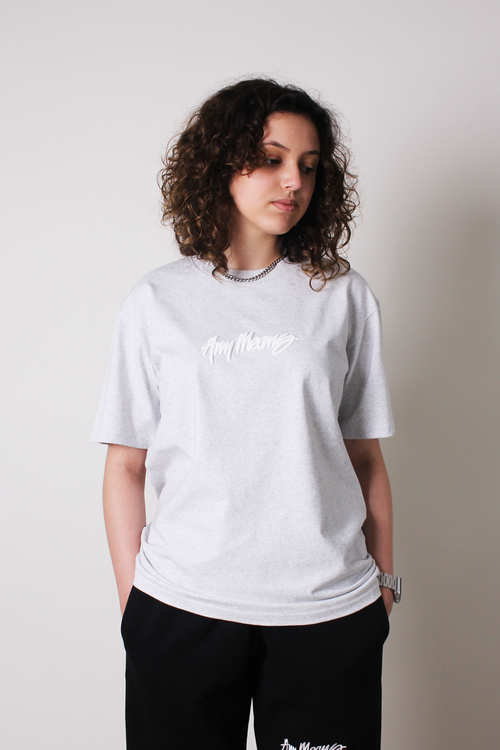 Image of Signature Tee in White Marle