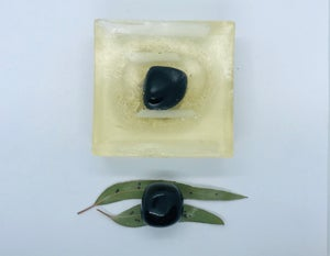 Obsidian Soap with Loofah