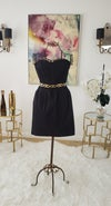 Sweetheart Bandeau Black Dress