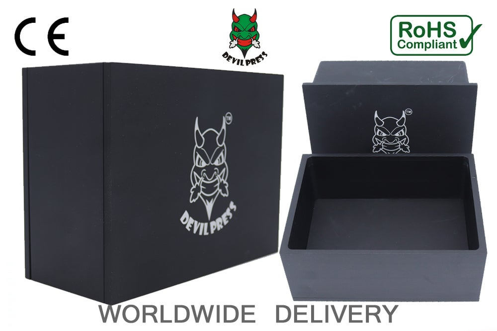 Image of DEVILPRESS™ ROSIN PRE PRESS MOLD 6X8 BLACK EDITION (3 INCHES DEPTH)