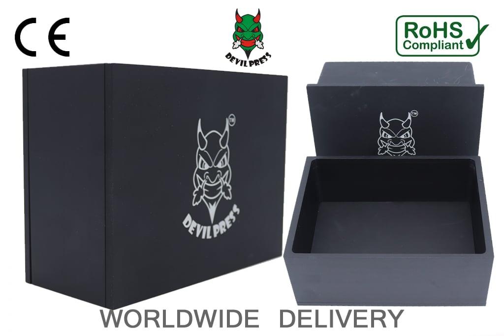 Image of DEVILPRESS™ ROSIN PRE PRESS MOLD 6X8 BLACK EDITION (3 INCHES DEPTH)