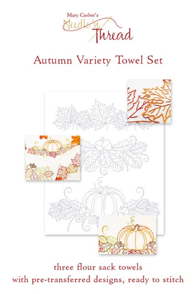 Image of Autumn Variety Ready-to-Stitch Towel Set
