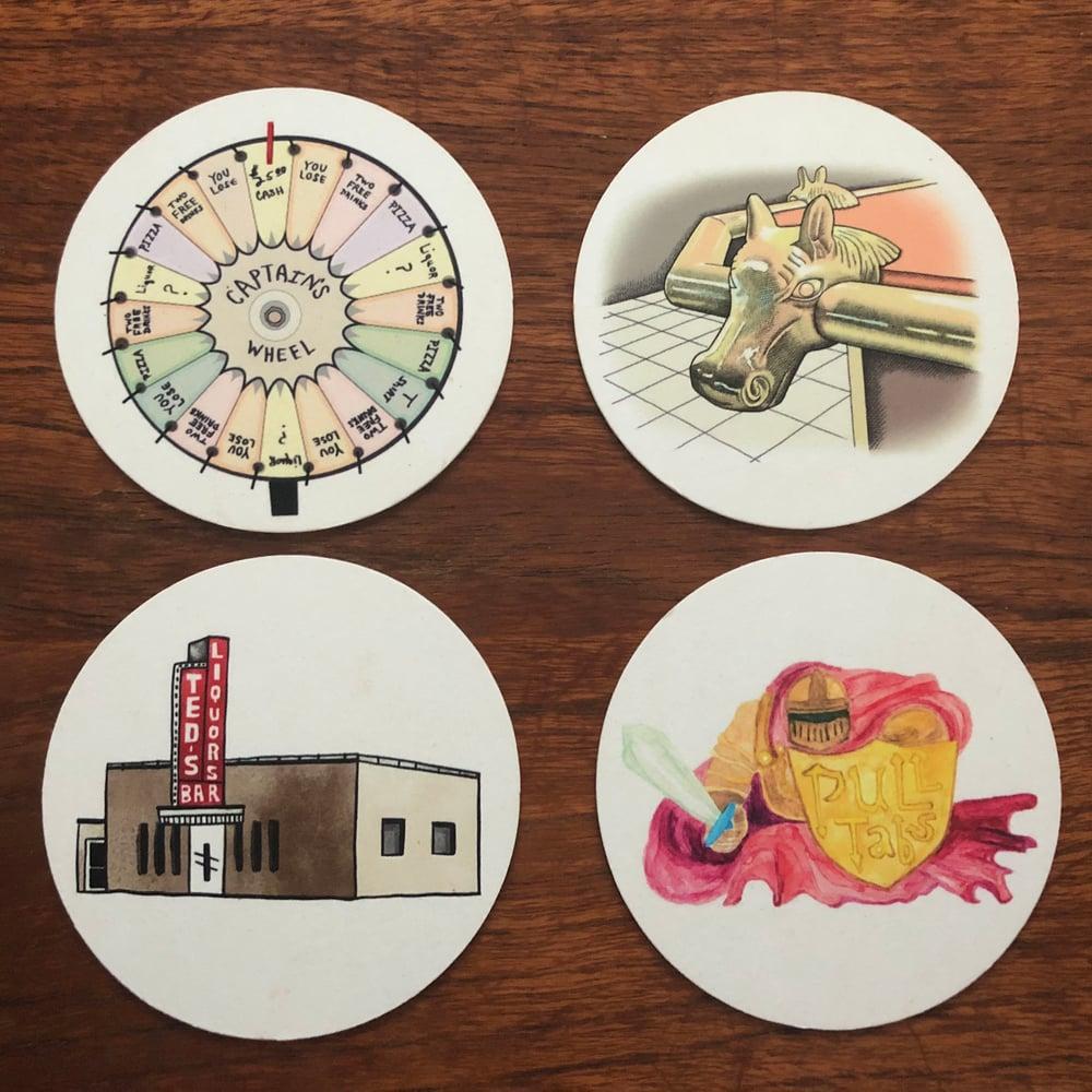 Image of Dive Bar Coasters (Set of 4)