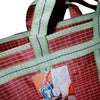 Indian grocery bag L Red/Green by Tops of Sprouts