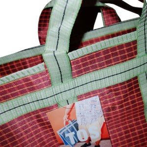 Image of Indian grocery bag L Red/Green by Tops of Sprouts