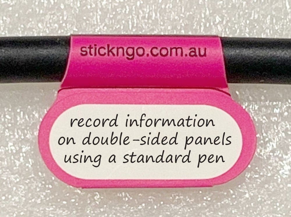 Image of Self-Adhesive 'Network Size' Cable Labels - 24 Pack in one colour