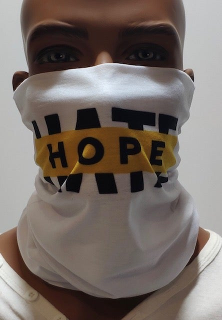 The HOPE not hate neck warmer/snood
