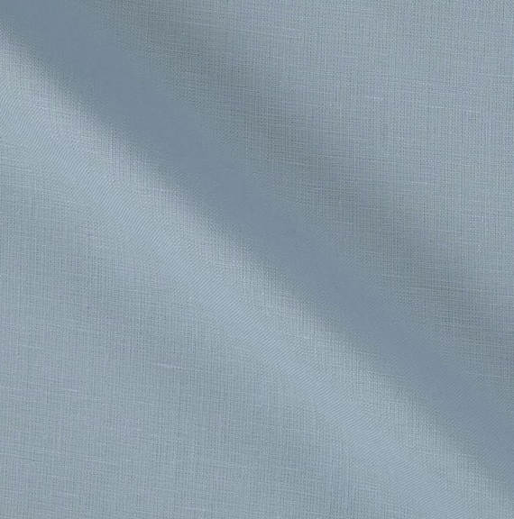 Image of 100% European Linen Baby Blue Shade