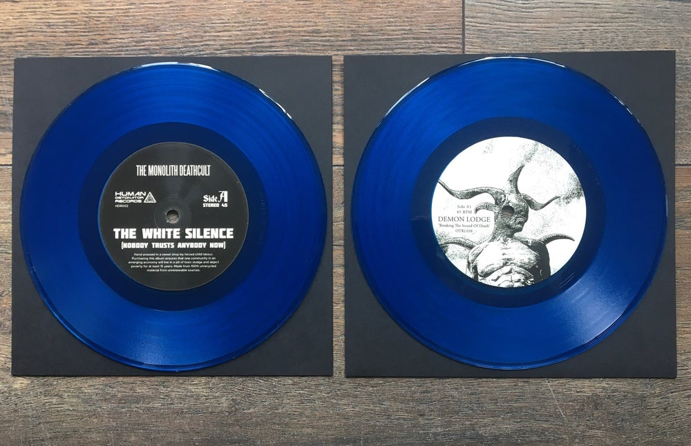 """The White Silence split 7"""" vinyl"""