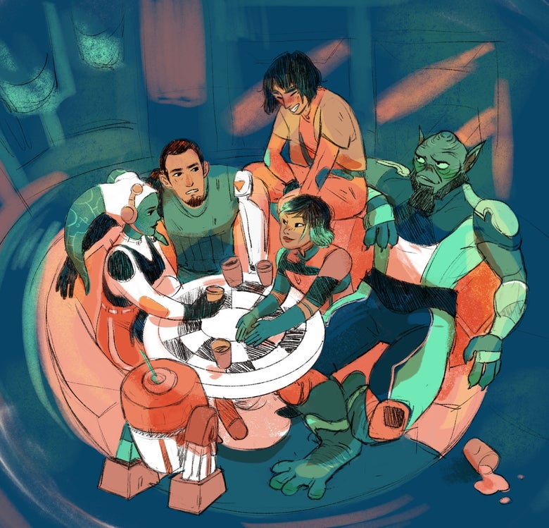 Image of rebels ghost crew print