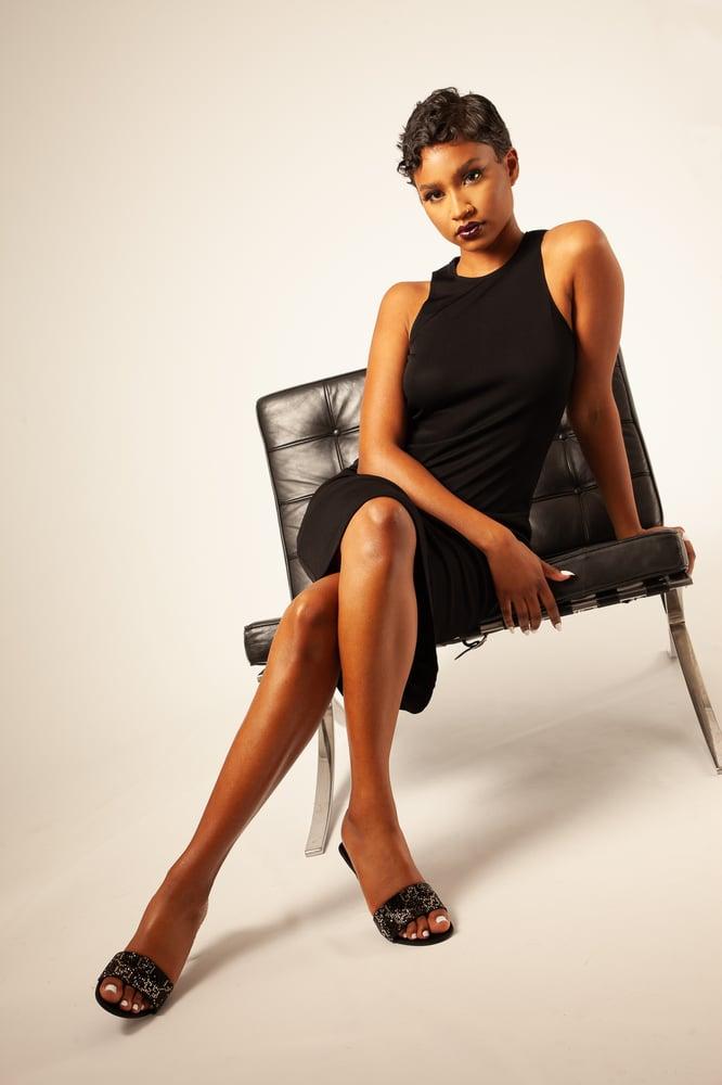 Image of Gianni Versace Black Dress
