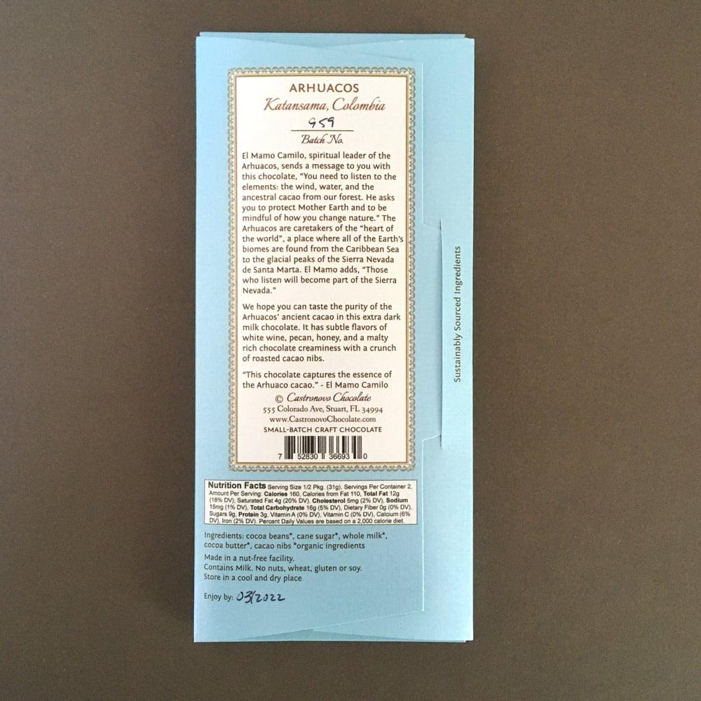 Image of Castronovo Chocolate 66% Arhuacos Dark Milk Chocolate with Nibs