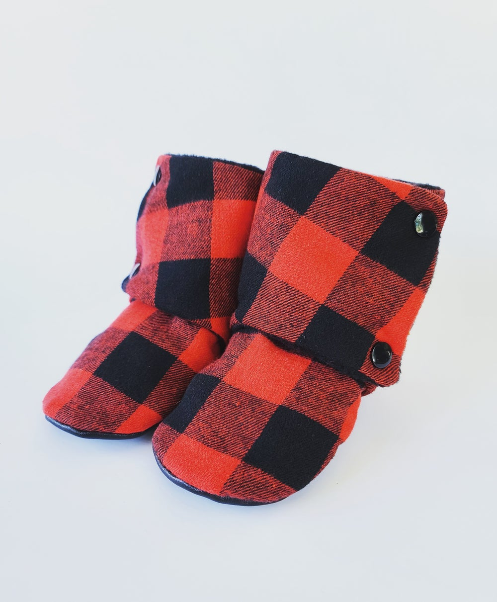Image of Red and black Buffalo Plaid