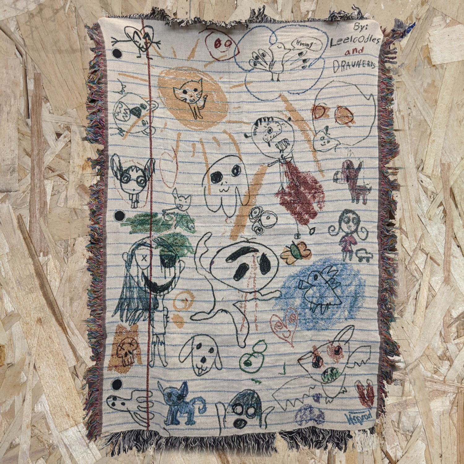 """Image of Leeloodles """"Blank-Etch"""" [Woven Throw Blanket]"""
