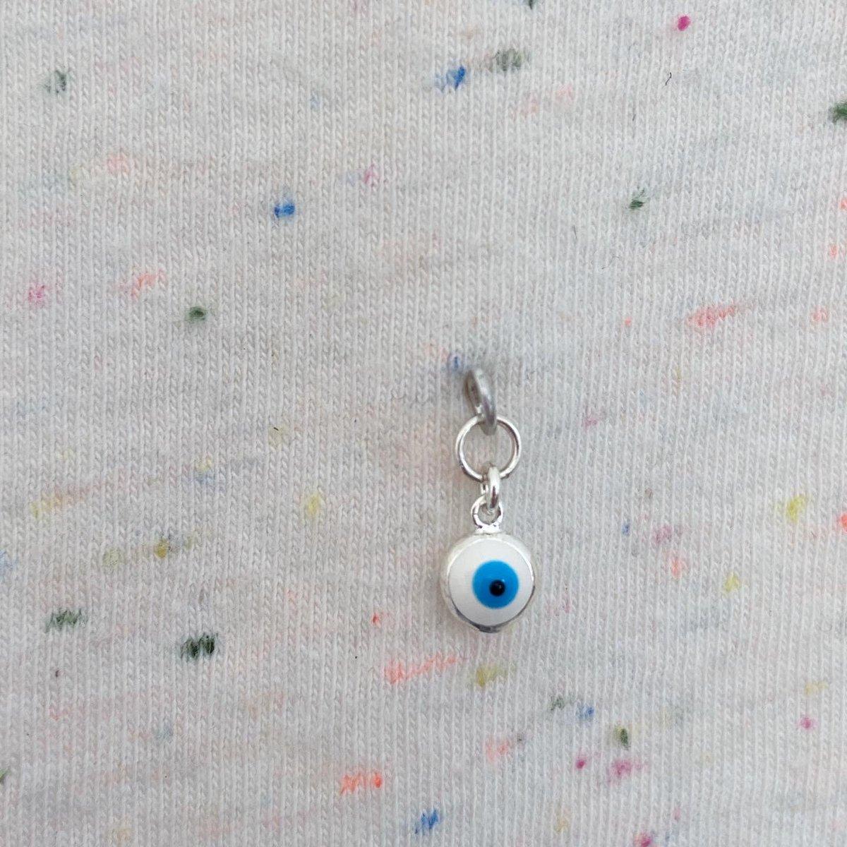 Image of evil eye single earring