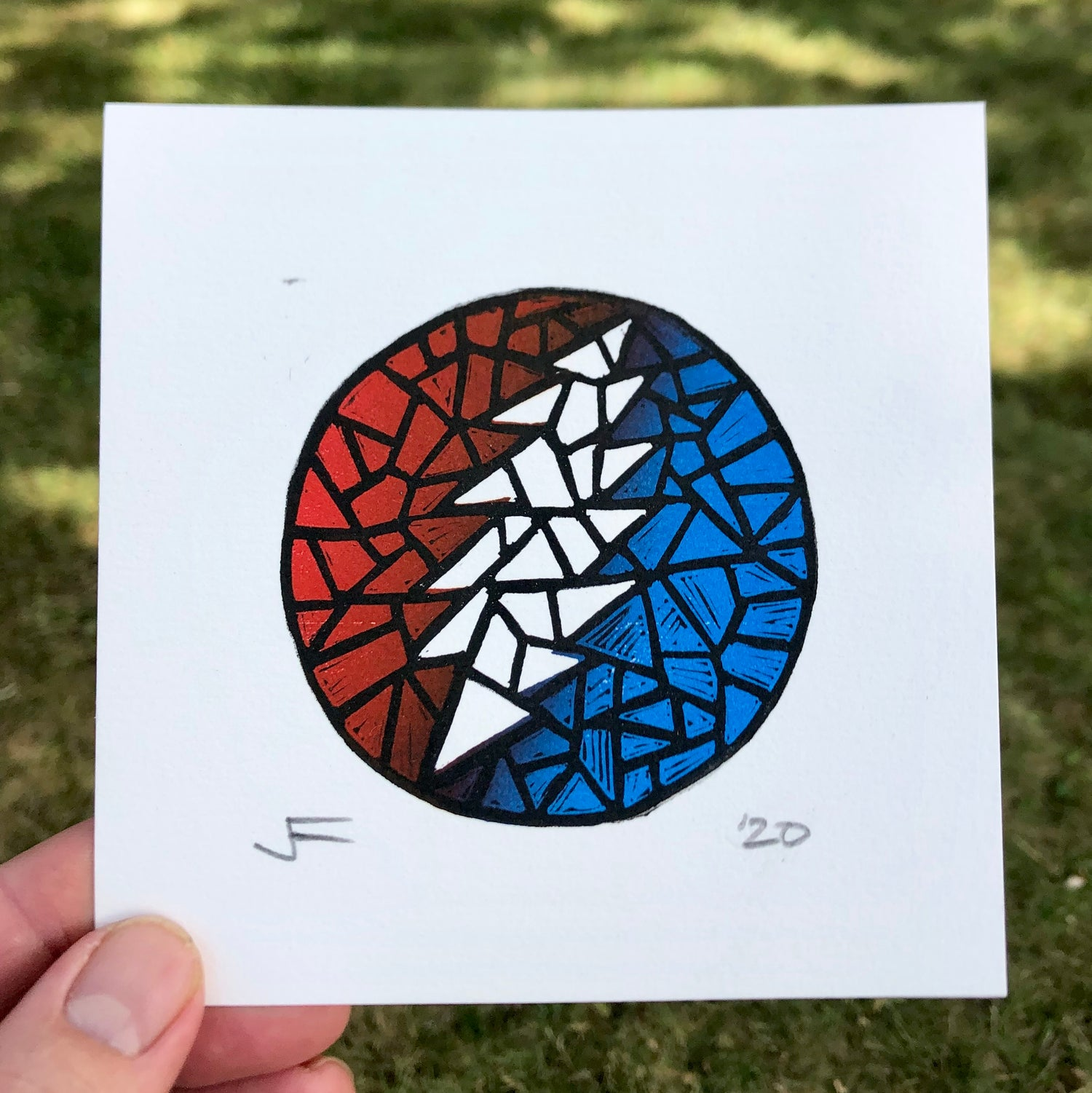 Image of Mosaic Bolt mini-print
