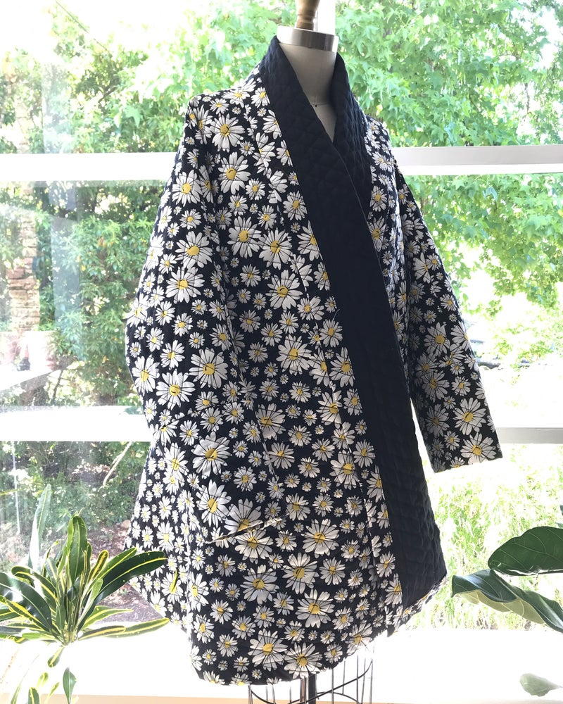 Image of Daisy Quilted Swing Coat