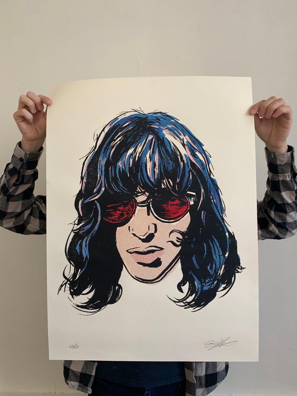 Joey Ramone Screen Print
