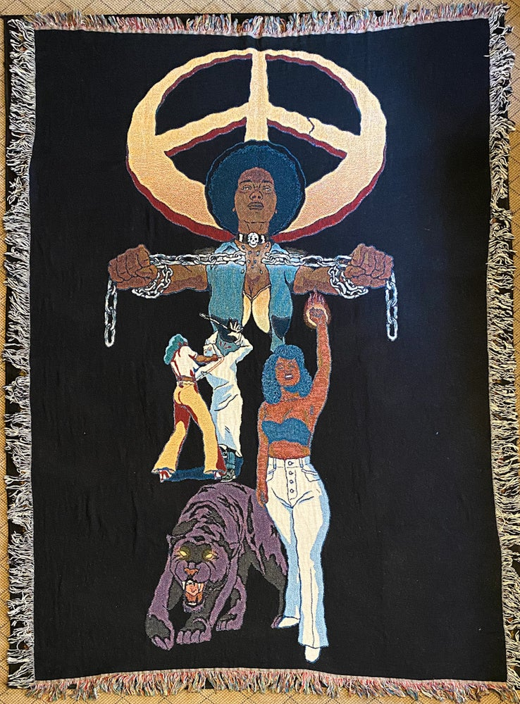 Image of PEACE woven blanket PREORDER