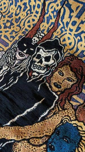 Image of Grim Creaper & The Lust Bunnies woven blanket PREORDER