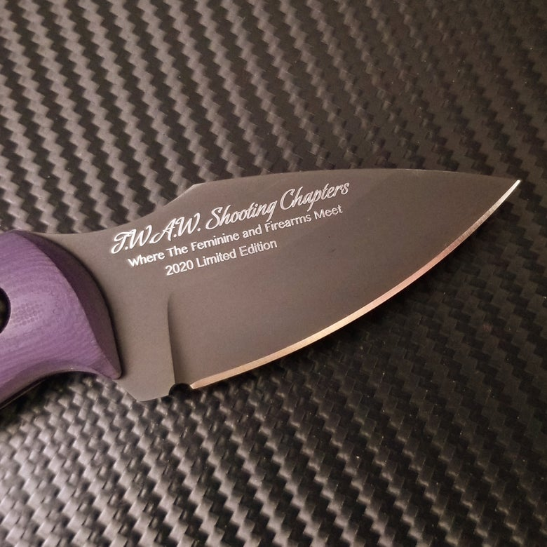 Image of TWAW Shooting Chapters - Limited Edition Fundraiser Knife (Preorder)