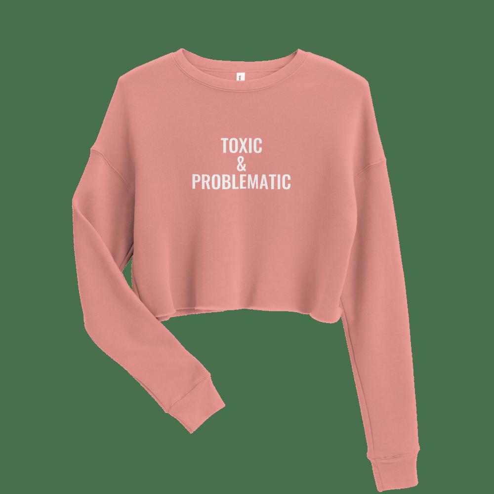 Image of Toxic Cropped Sweatshirt - Pink