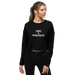 Image of Toxic Cropped Sweatshirt - Black