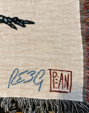 Image of Dying to Ride woven blanket PREORDER
