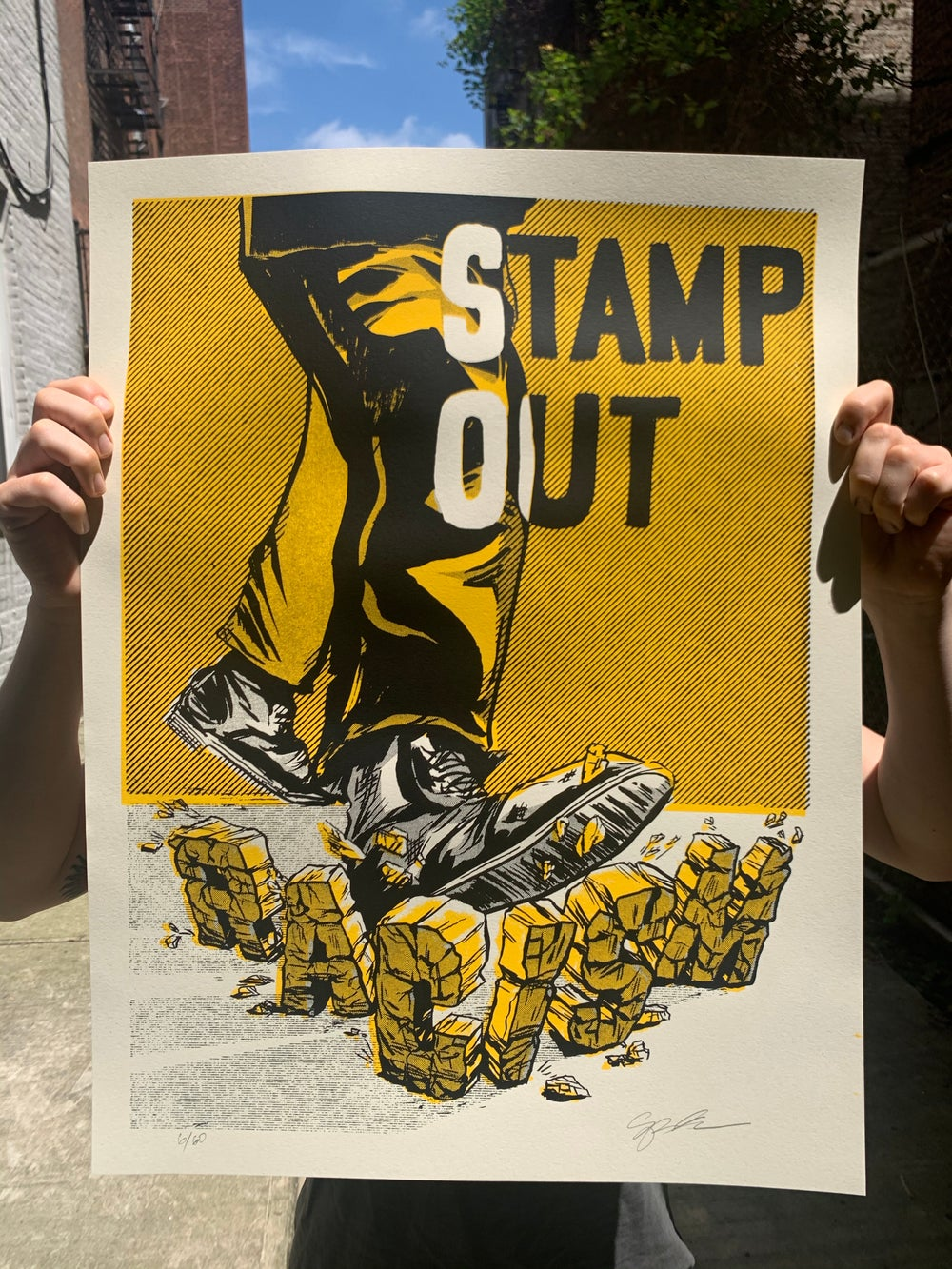 STAMP OUT RACISM Screen Print