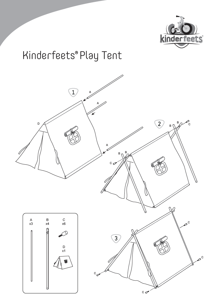 Image of Instruction Manual for the Kinderfeets Play Tent