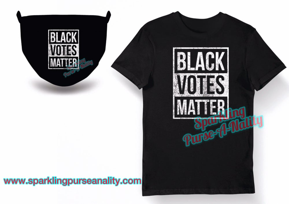 Image of Black Votes Matter with Mask