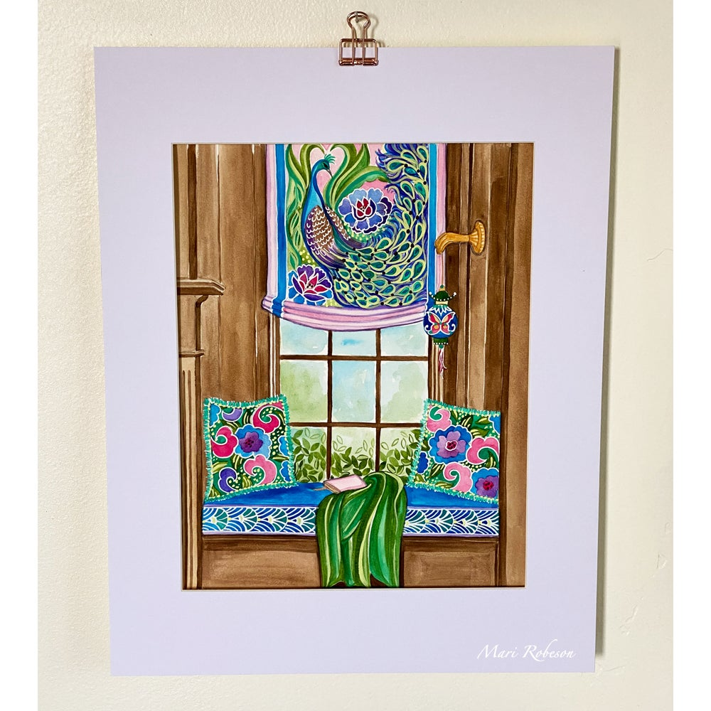 Image of 'Joyful Respite' Original Watercolor