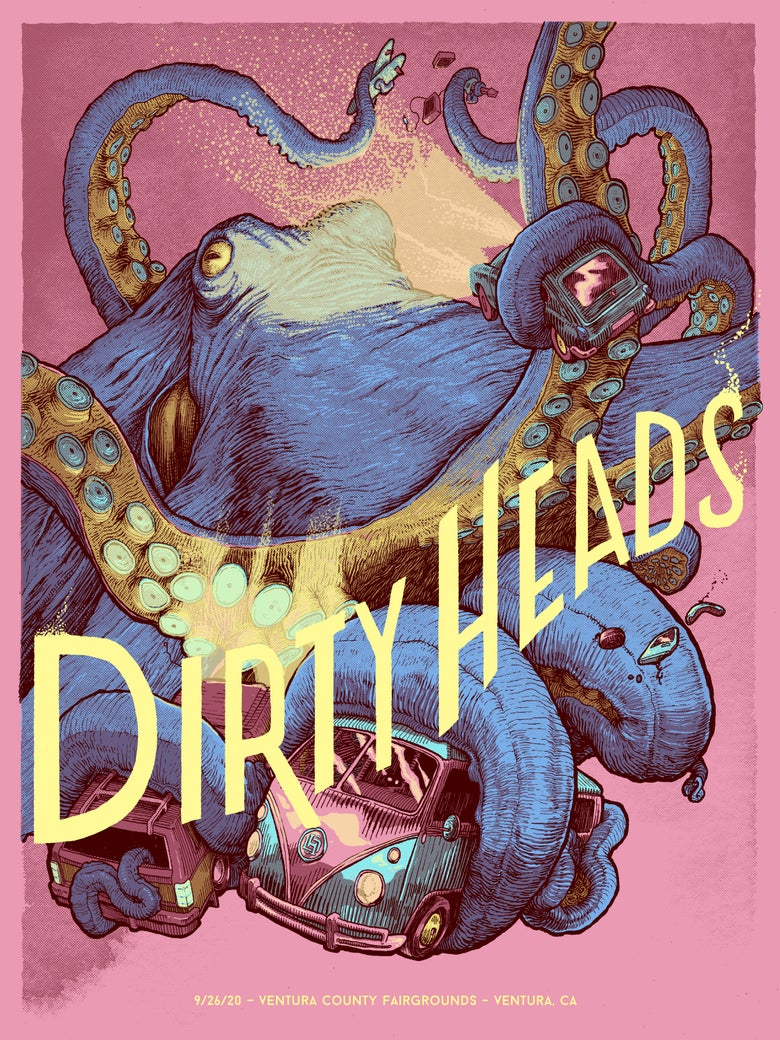 Image of Dirty Heads - Ventura 9/26 (Pink)