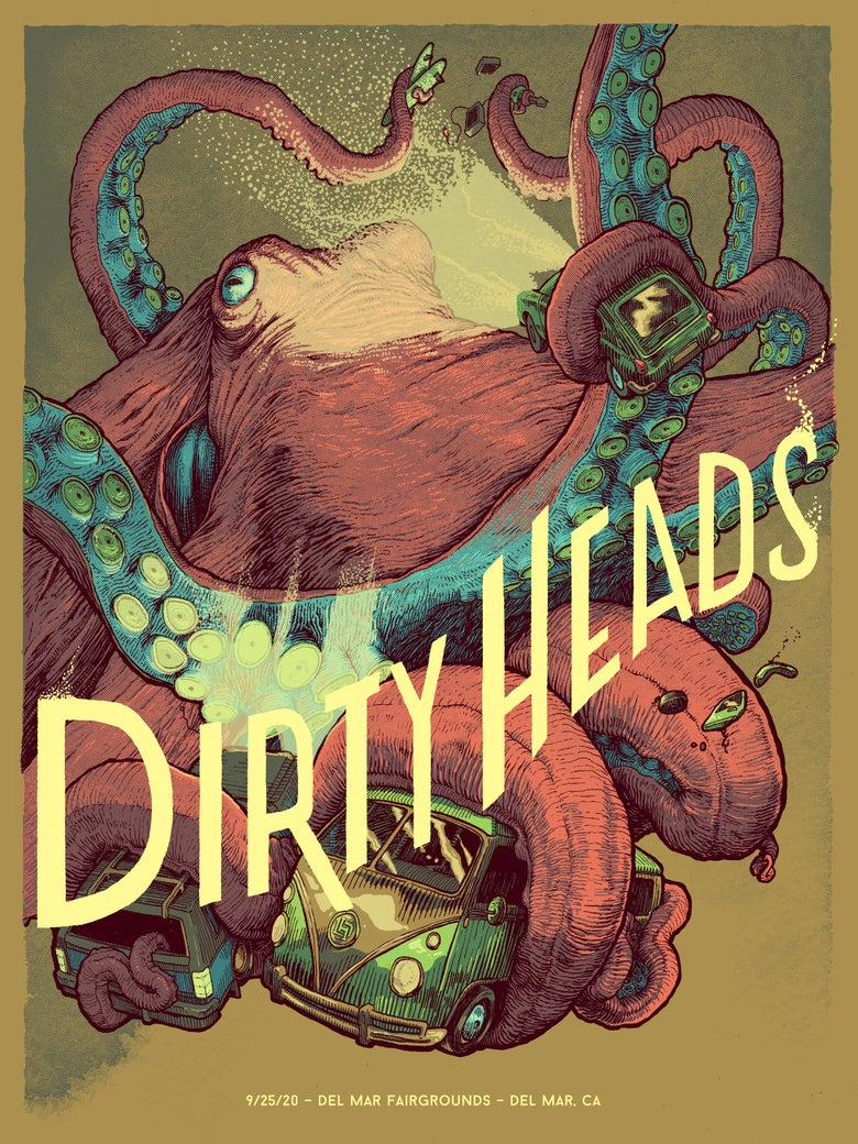 Image of Dirty Heads - 9/25 Del Mar (Olive)