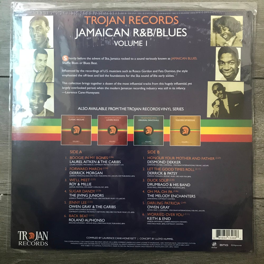 Image of Trojan Records - Jamaican and Blues Vinyl LP New