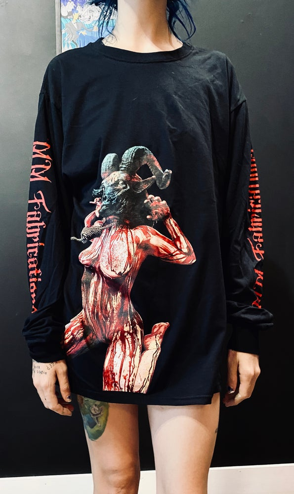 Image of Father's sacred flesh - Long sleeve goat girl shirts